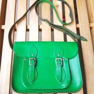 Kelly Green vintage messenger bag